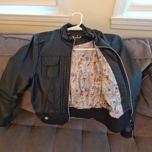 Joujou Black Faux Leather Jacket Juniors Small